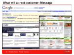 what will attract customer message