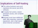 implications of self hosting