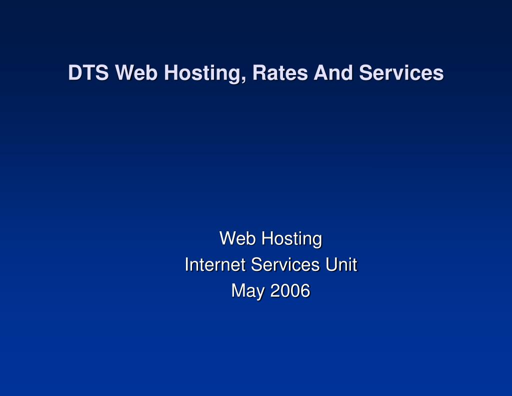 dts web hosting rates and services l.