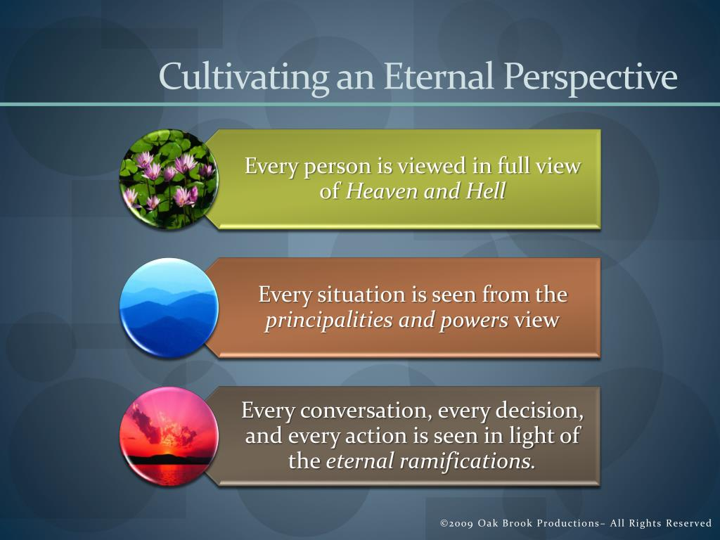 Cultivating an Eternal Perspective
