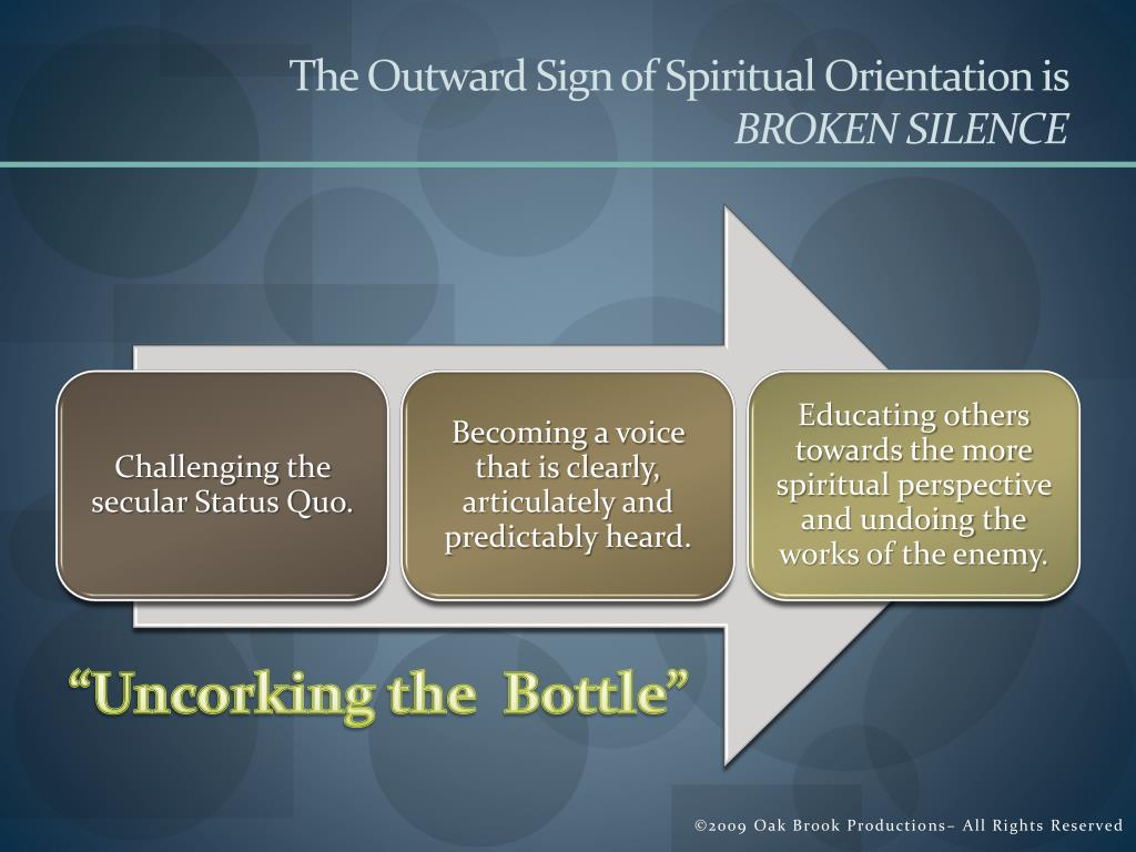 The Outward Sign of Spiritual Orientation is