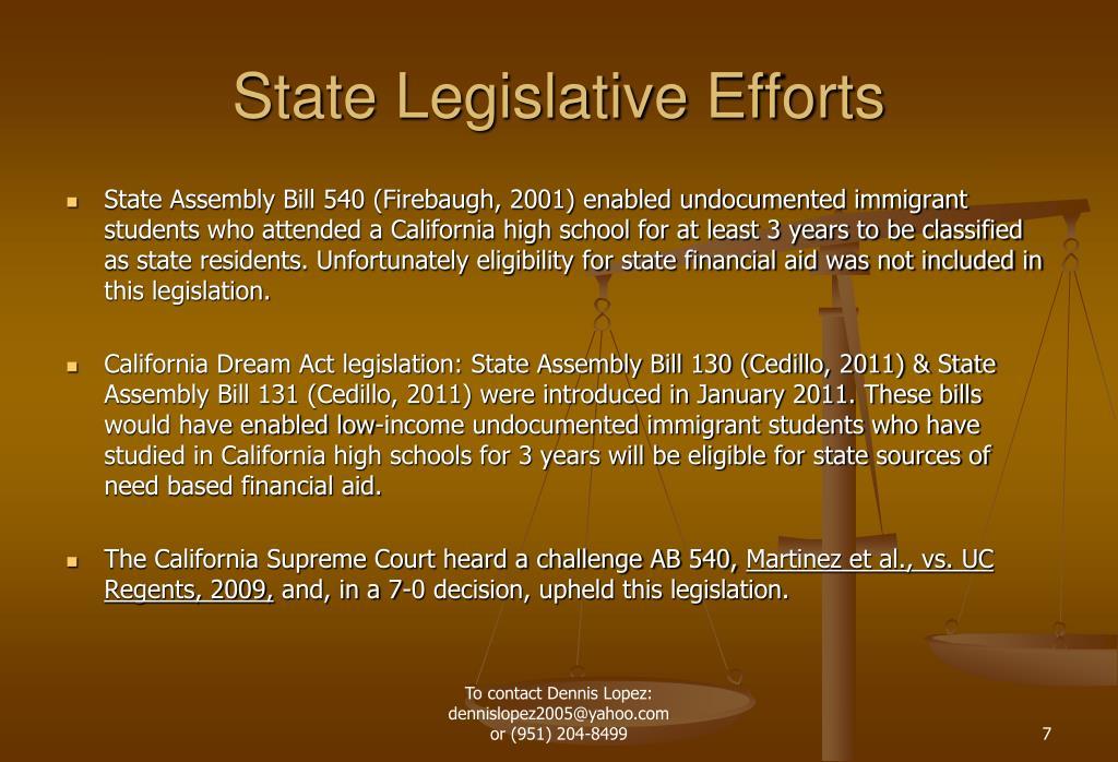 State Legislative Efforts