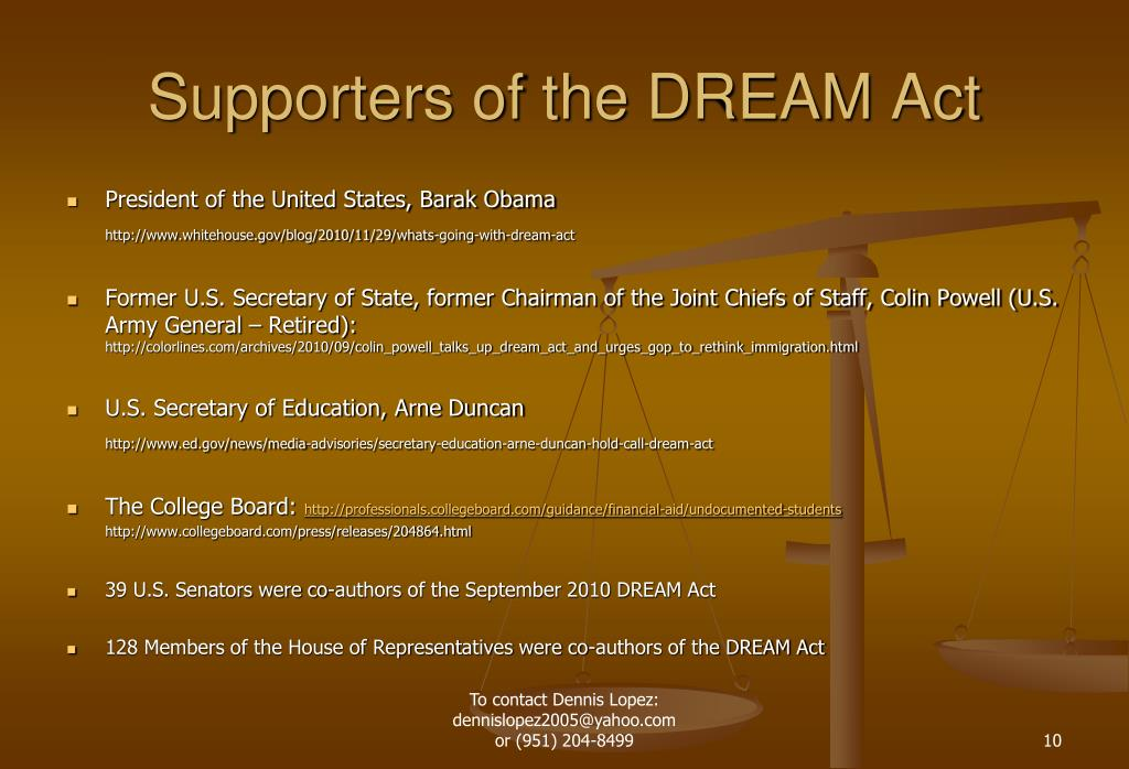 Supporters of the DREAM Act