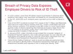 breach of privacy data exposes employee drivers to risk of id theft