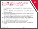 current best practices to maintain security of eu privacy data