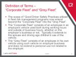 definition of terms corporate fleet and grey fleet
