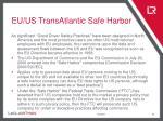 eu us transatlantic safe harbor