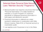 selected state personal data security laws maintain security fragment 2