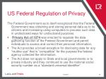 us federal regulation of privacy