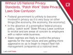 without us national privacy standards patch work state privacy laws sow confusion