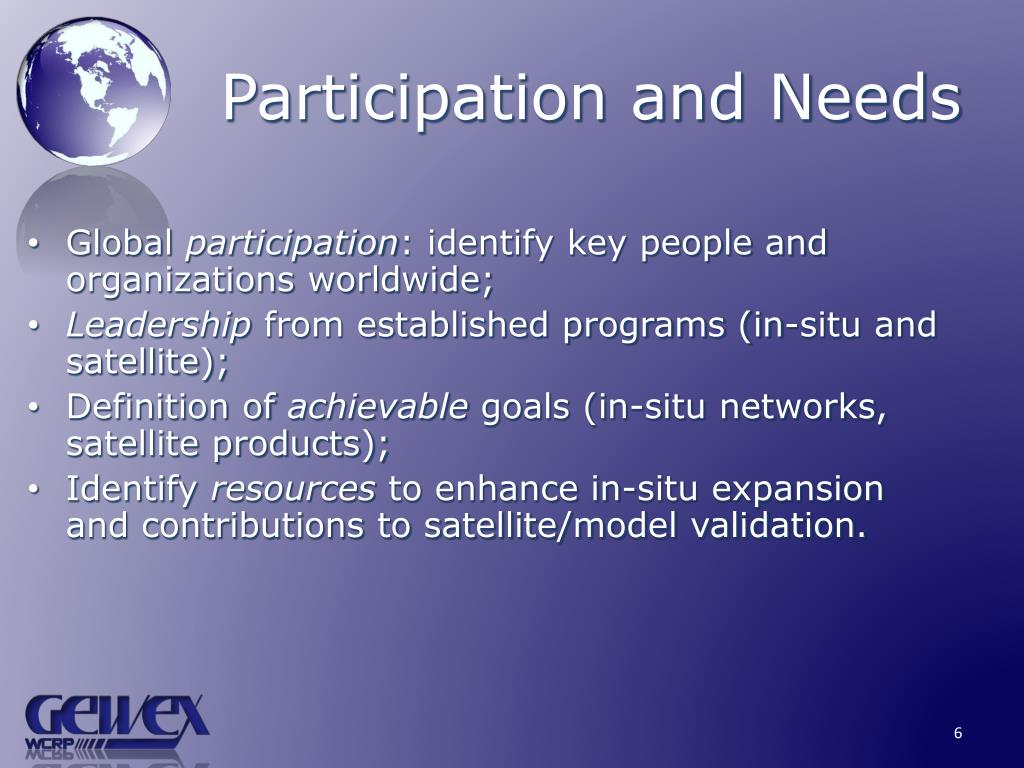 Participation and Needs