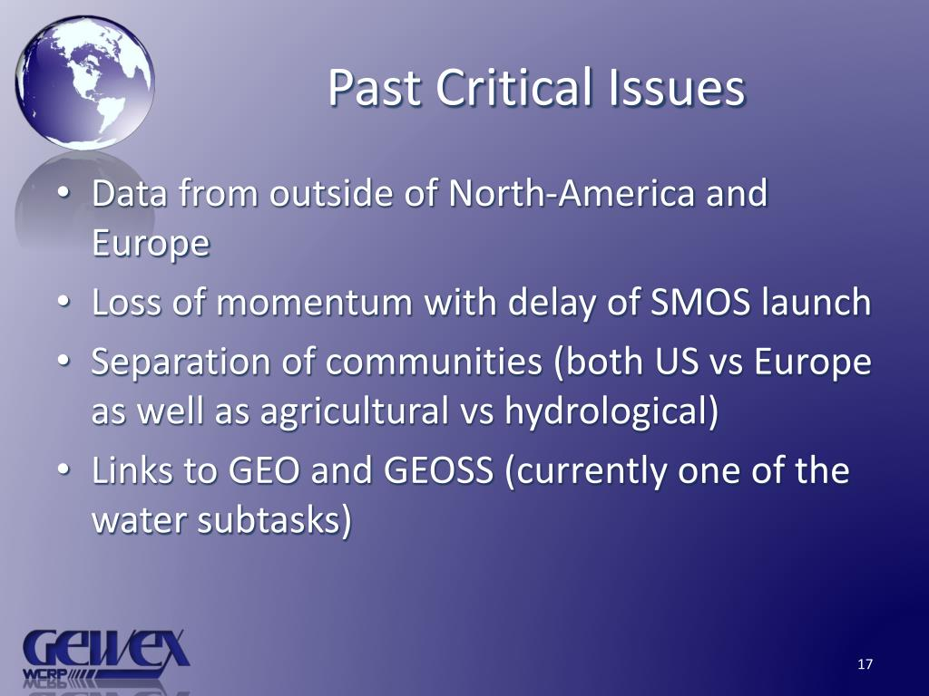Past Critical Issues