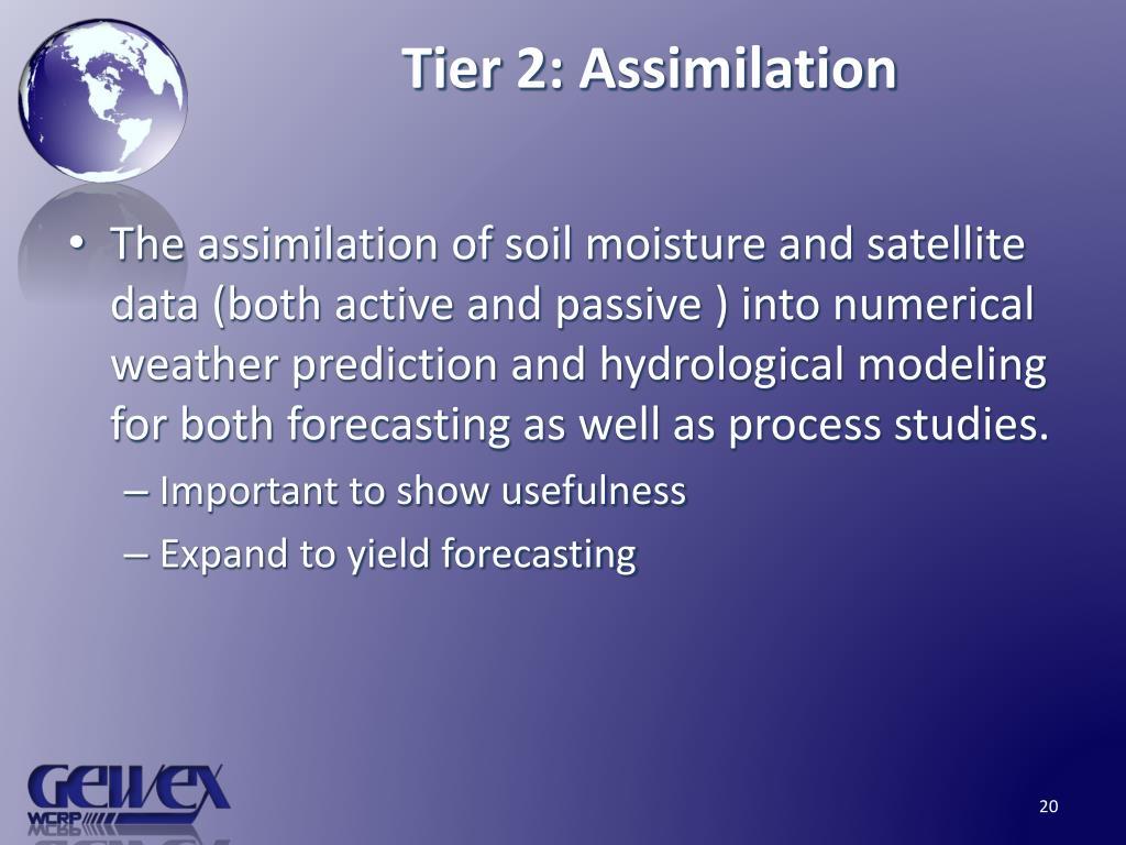 Tier 2: Assimilation
