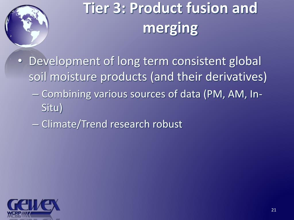 Tier 3: Product fusion and merging