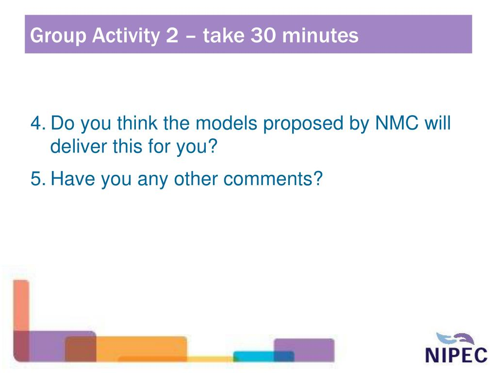 Group Activity 2 – take 30 minutes