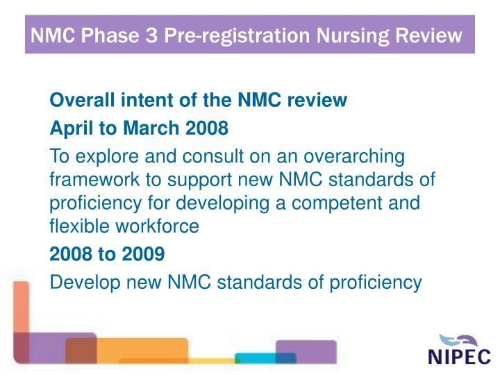 Nmc phase 3 pre registration nursing review