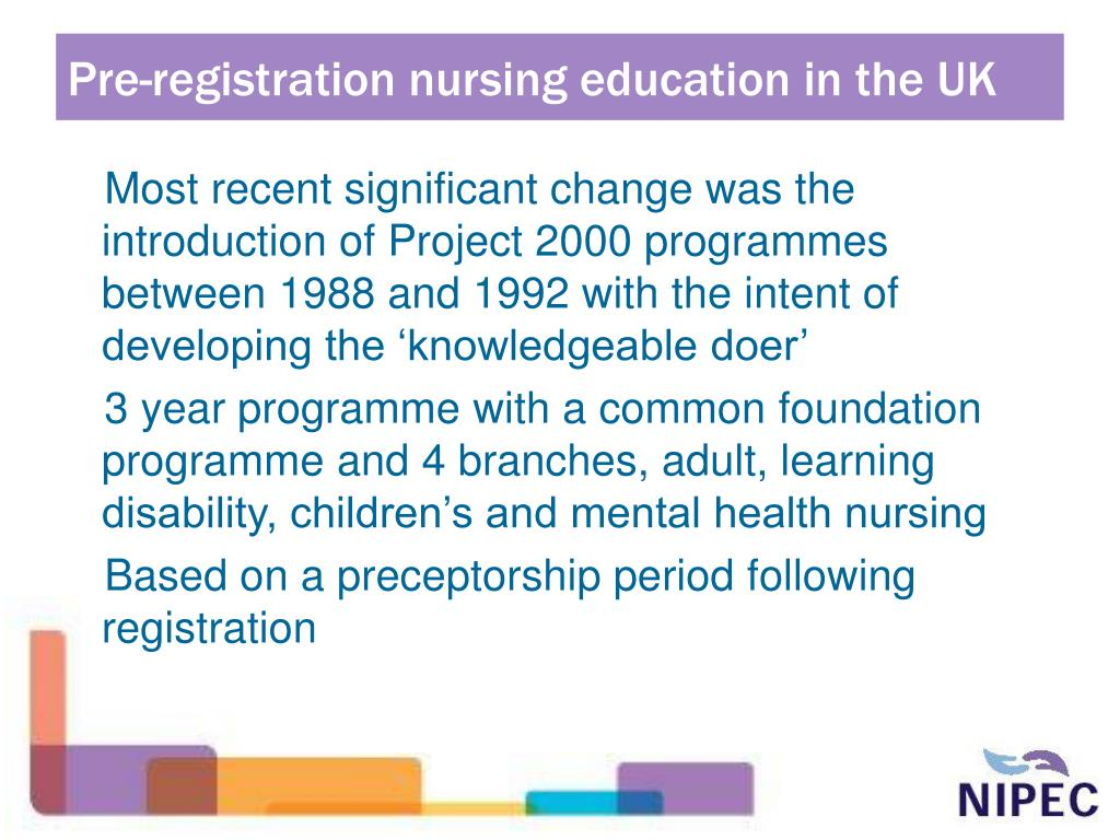Pre-registration nursing education in the UK