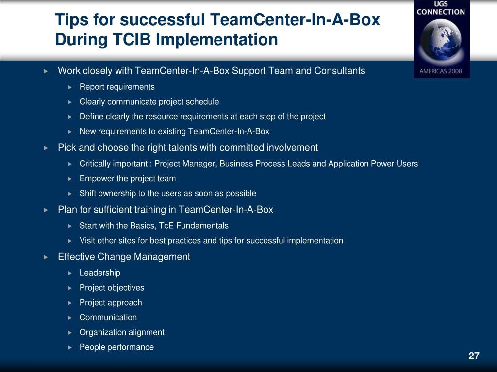 PPT - Teamcenter In A Box (TCIB) Tano Maenza, PLM PMO