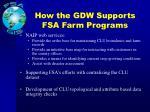 how the gdw supports fsa farm programs