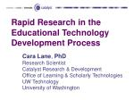 rapid research in the educational technology development process