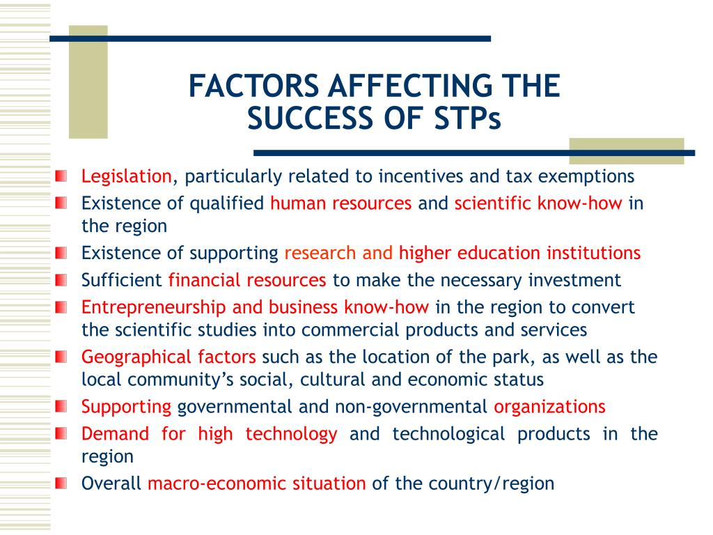 FACTORS AFFECTING THE