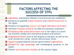 factors affecting the success of stps