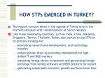 how stps emerged in turkey