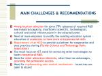 main challenges recommendations23