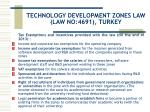technology development zones law law no 4691 turkey8