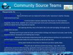 community source teams