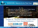 goscon returns for its third year