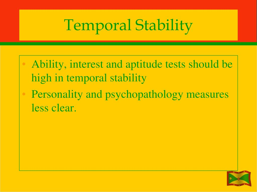 Temporal Stability