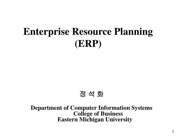 enterprise resource planning erp n.