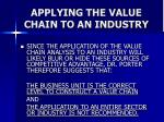 applying the value chain to an industry50