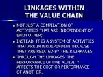 linkages within the value chain