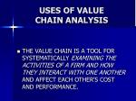 uses of value chain analysis20
