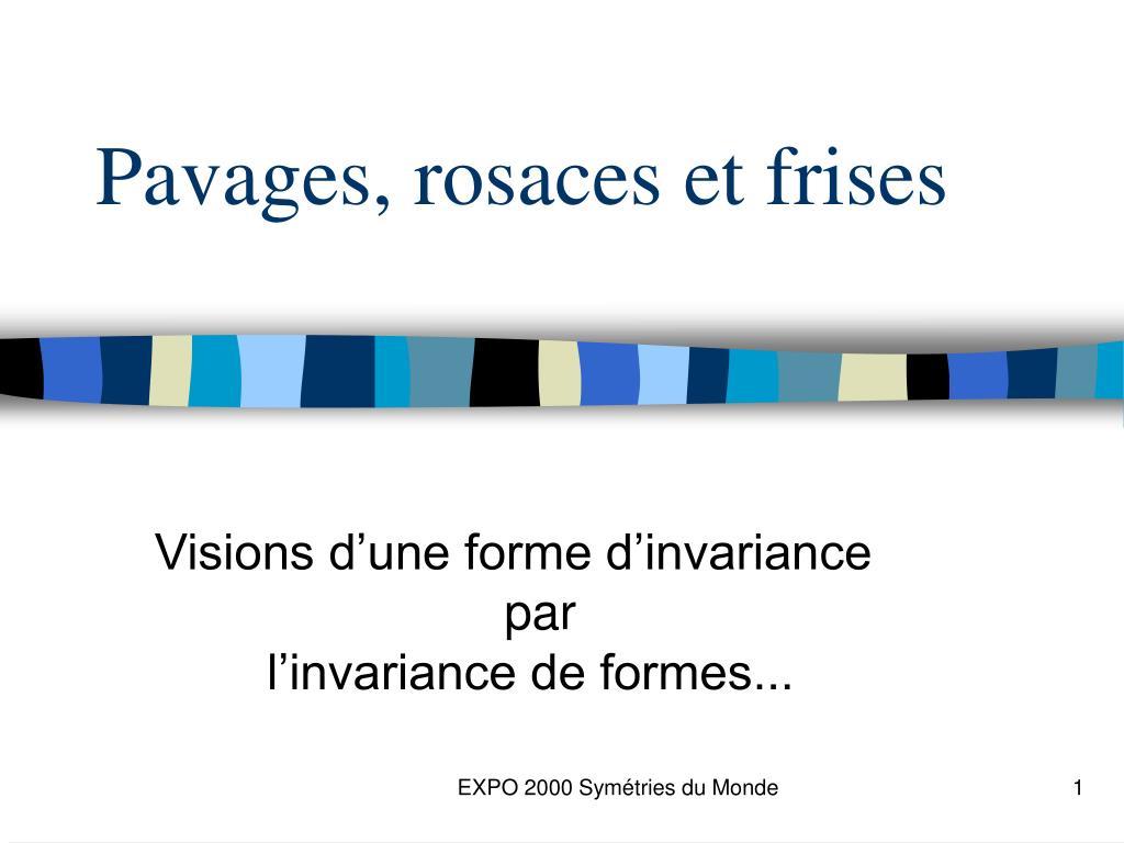 Ppt Pavages Rosaces Et Frises Powerpoint Presentation