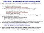 reliability availability maintainability ram
