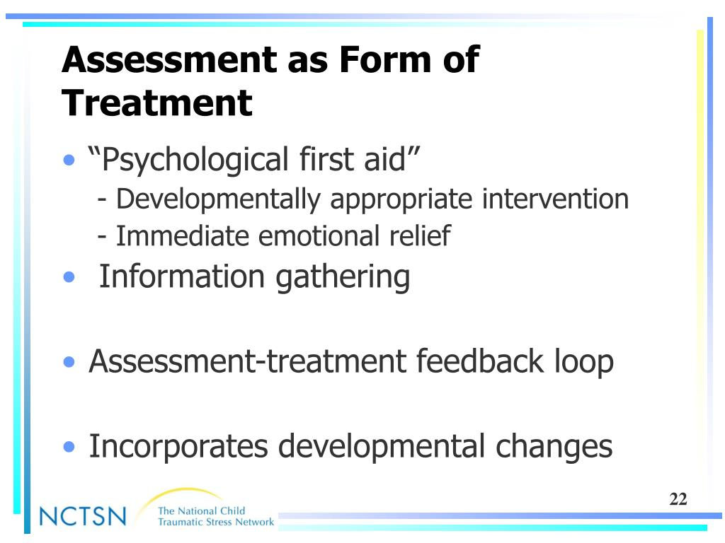 Assessment as Form of Treatment