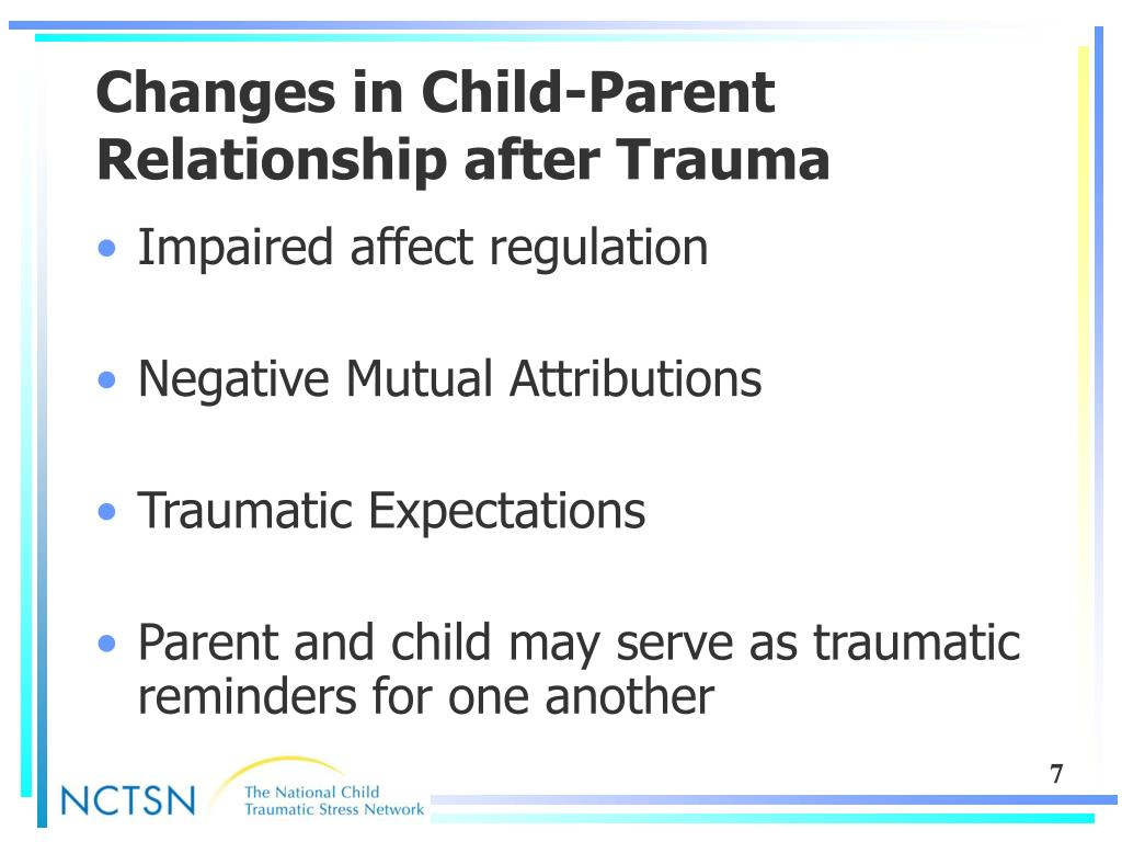 Changes in Child-Parent Relationship after Trauma