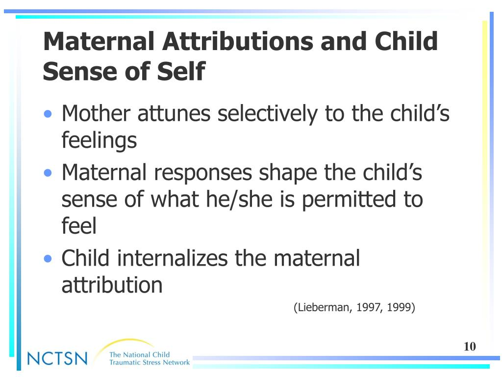 Maternal Attributions and Child Sense of Self