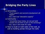 bridging the party lines