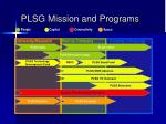 plsg mission and programs
