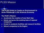 plsg mission