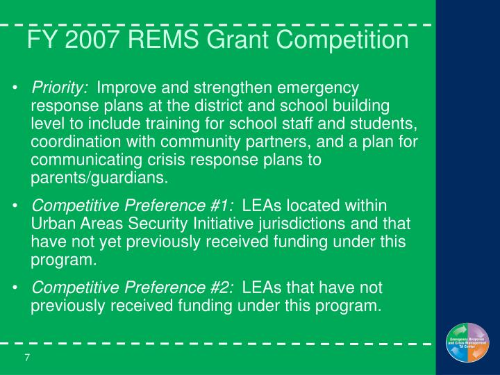 Ppt Readiness And Emergency Management For Schools Grant