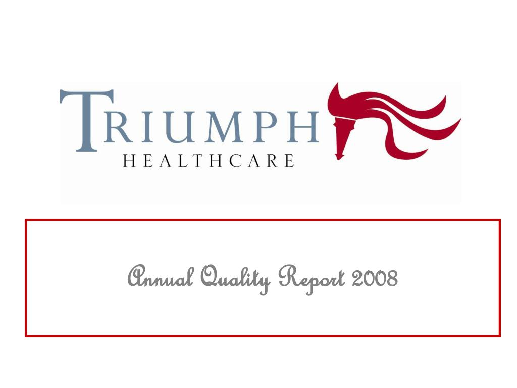 annual quality report 2008 l.