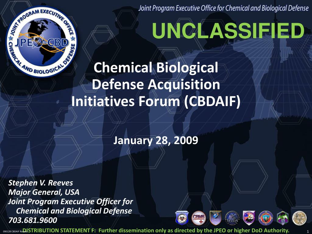 chemical biological defense acquisition initiatives forum cbdaif l.