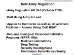 new army regulation