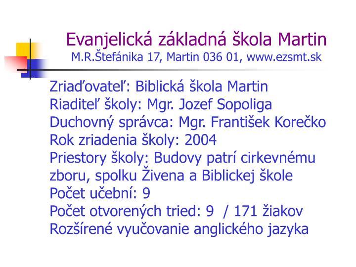 PPT - EVANJELICKÉ ŠKOLY PowerPoint Presentation - ID 428912 b86d16d6402