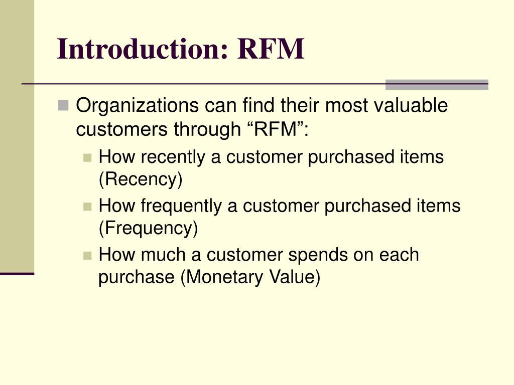 Introduction: RFM